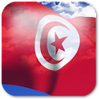 3D Tunisia Flag icon