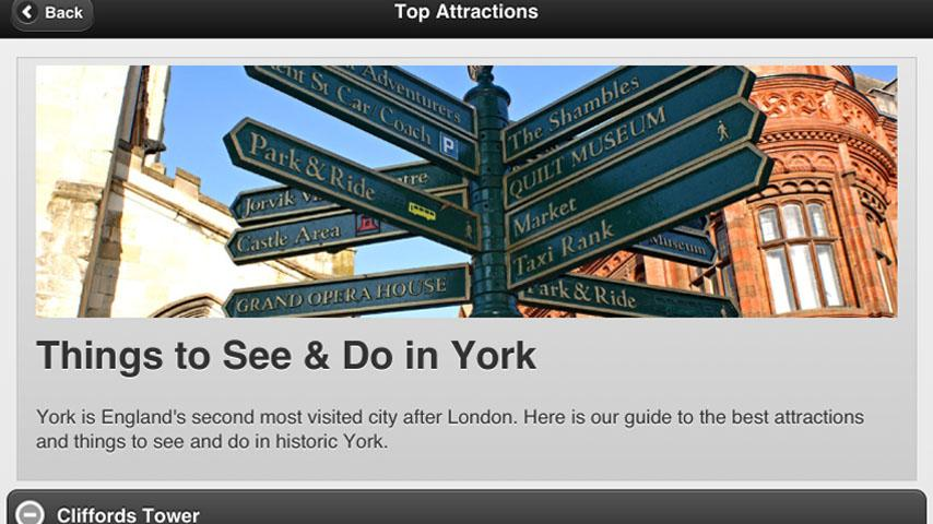 Inside York City Guide- screenshot