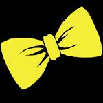 Bowtie yellow GO Launcher