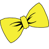 Bowtie yellow GO Launcher