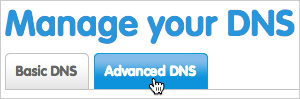 Advanced DNS tab