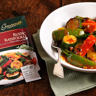 Rustic Ratatouille with a pinch of Oregano and Basil