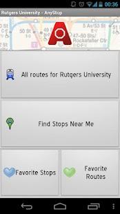 Rutgers Newark Transit AnyStop - screenshot thumbnail