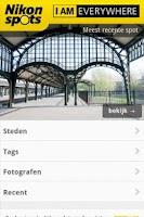 Screenshot of Nikon Spots