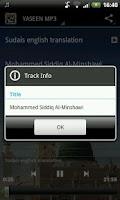 Screenshot of Yaseen MP3