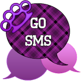 GO SMS - Purple Knuckles