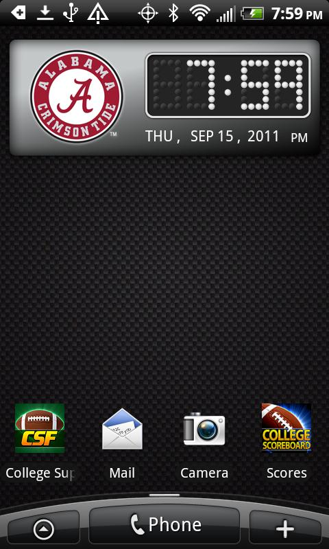 Alabama Crimson Tide Clock - screenshot