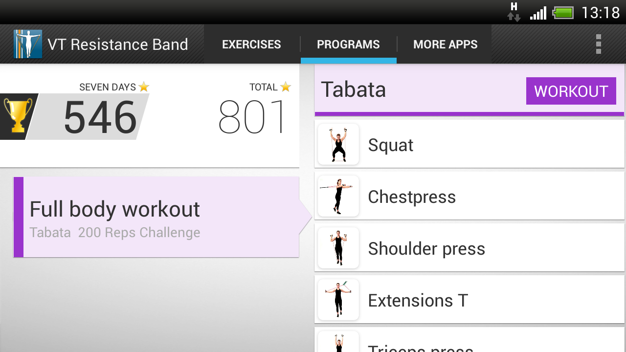 VirtualTrainer Resistance Band- screenshot