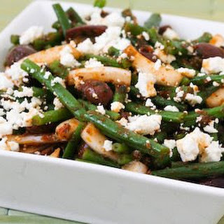 Green Bean Salad with Greek Olives and Feta Cheese.