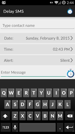 DelaySms: Schedule text
