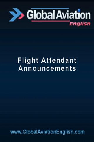 Flight Attendant Announcement- screenshot