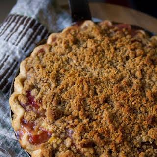Rhubarb Crumble Pie.