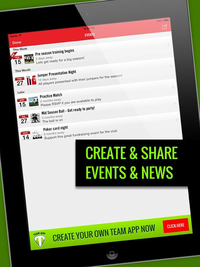Team App – Screenshot