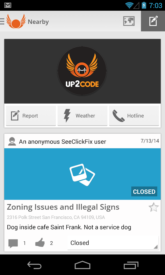 UP2CODE - screenshot