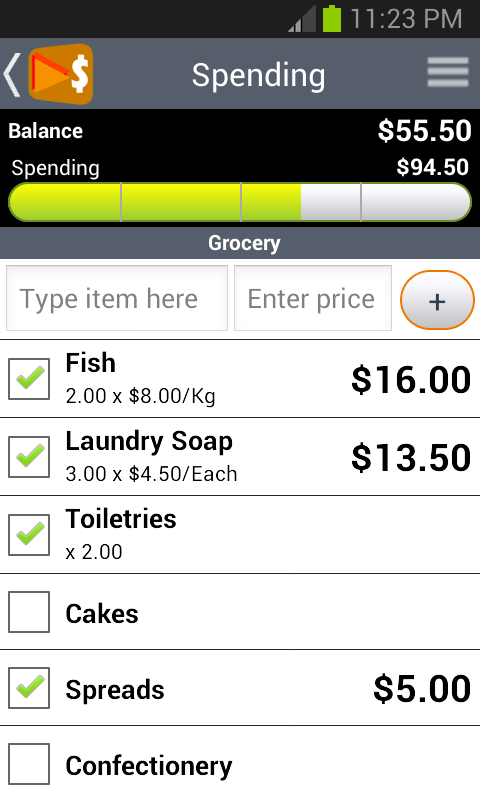Smart Budget- screenshot