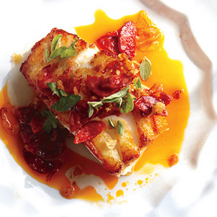 Cod with Chorizo and Breadcrumbs Recipe