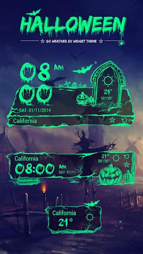 玩免費天氣APP|下載Halloween Theme GO Weather EX app不用錢|硬是要APP