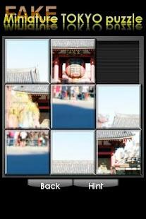 FAKE miniature TOKYO puzzle- screenshot thumbnail