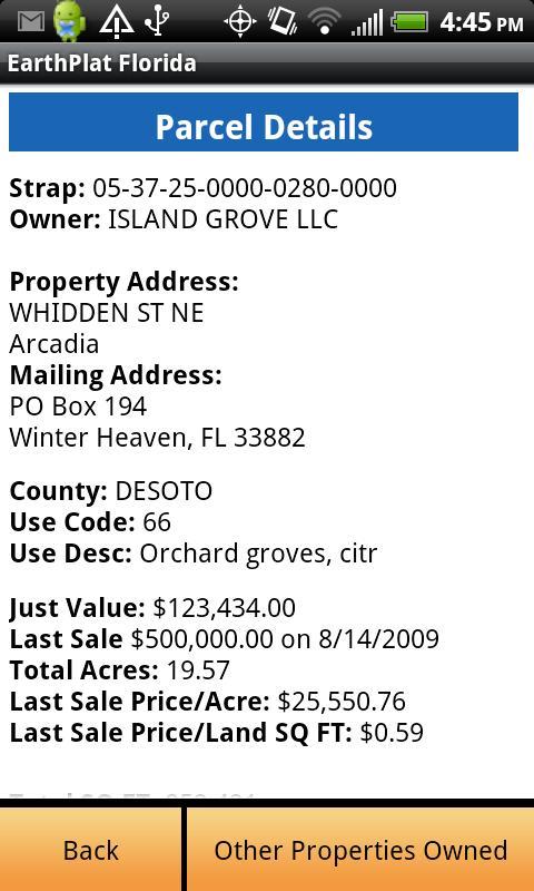 EarthPlat Florida- screenshot