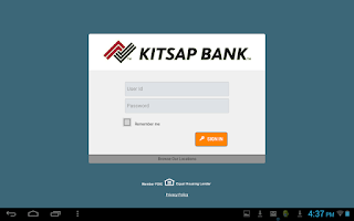 Screenshot of Kitsap Bank Mobile App