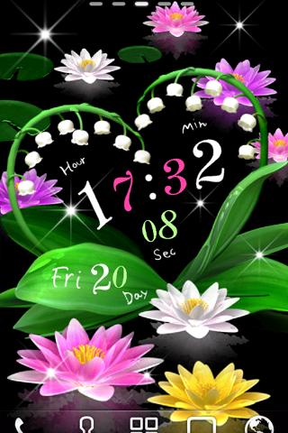 Water Lily Bell LiveWallpaper - screenshot