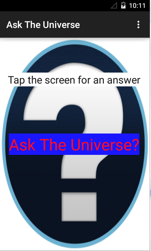 Ask the Universe!- screenshot