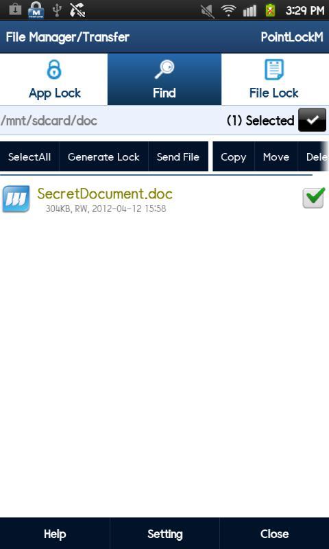 Applicaton Lock- screenshot