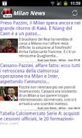 Screenshot of Milan News