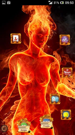Fire Theme HD TSF Shell