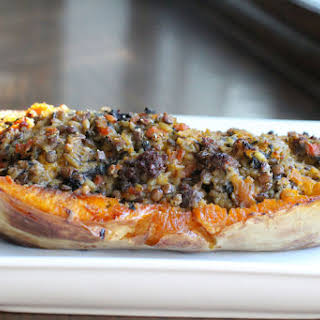 Stuffed Butternut Squash with Boerewors.