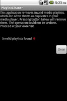 Screenshot of PlaylistCleaner