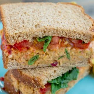 Buffalo Chickpea-Salad Sandwich.