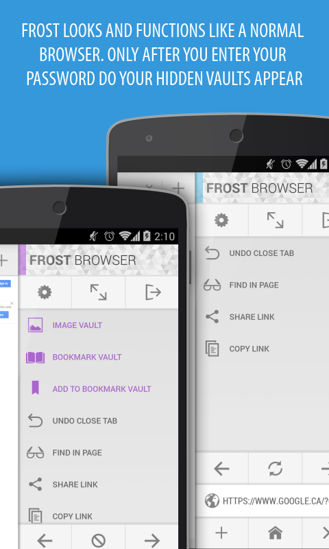 Frost Lite Private Browser - screenshot