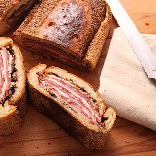 Muffuletta Shooter's-Style Sandwiches.