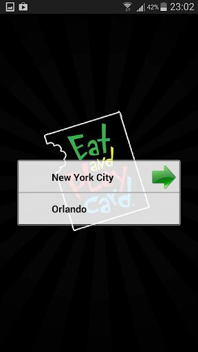 Eat and Play Card NYC Orlando