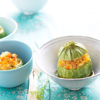 Globe Zucchini Stuffed With Millet And Vegetables