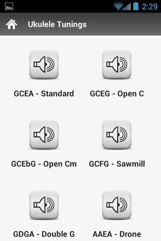 Ukulele Tunings- screenshot