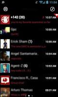 Screenshot of GOSMS WP7 Red Theme Free
