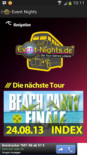 【免費旅遊App】Event Nights-APP點子