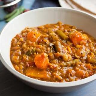 Coconut Curry Garam Masala Lentil Soup.