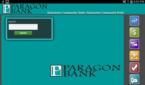 Paragon Bank MN Tablet Banking