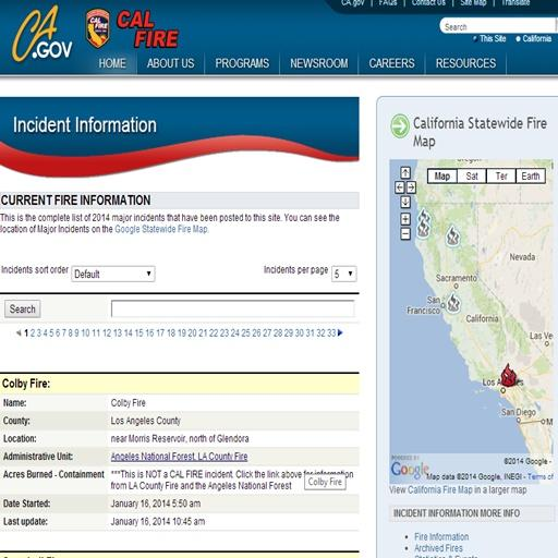 Cal Fire Reports