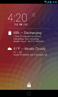 DashClock Battery Extension - screenshot thumbnail