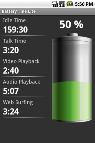 BatteryTime Lite - screenshot