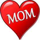 Mom is Best Cards! Doodle Text icon