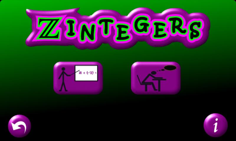 Zintegers- screenshot