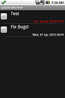 Screenshot of QuickTodo Lite