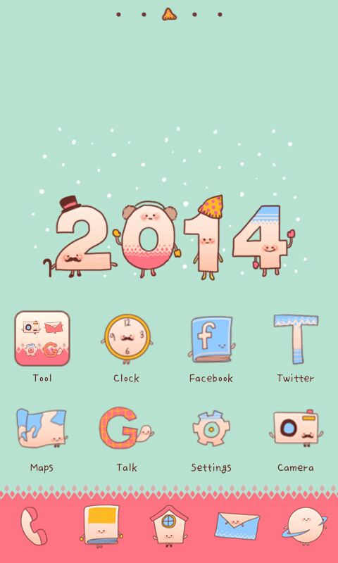 Happy2014 go launcher theme - screenshot
