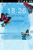 Screenshot of GO Locker Theme Butterfly Blue