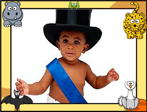 动物照片相框为孩子